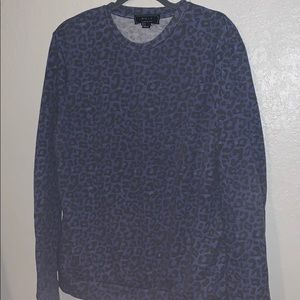 Forever 21 Men's Faded Cheetah Crew Neck // XL
